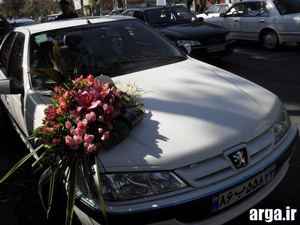 تزیینات ماشین عروس زیبا