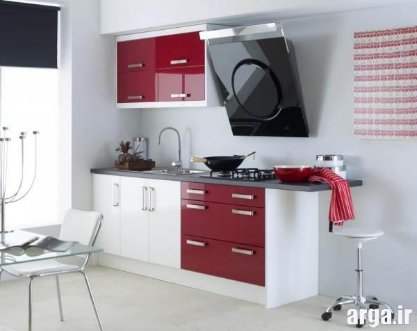 آشپزخانه سفید و قرمز