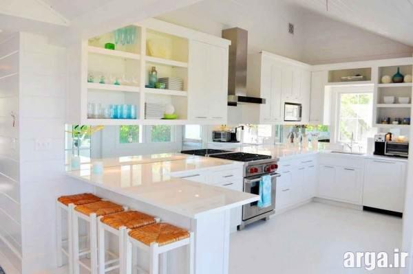 دکوراسیون جدید آشپزخانه سفید