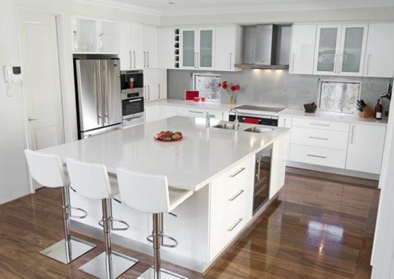 دکوراسیون آشپزخانه سفید
