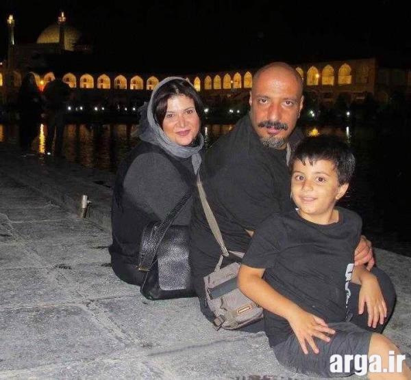 امیر جعفری به همراه همسر و فرزندش