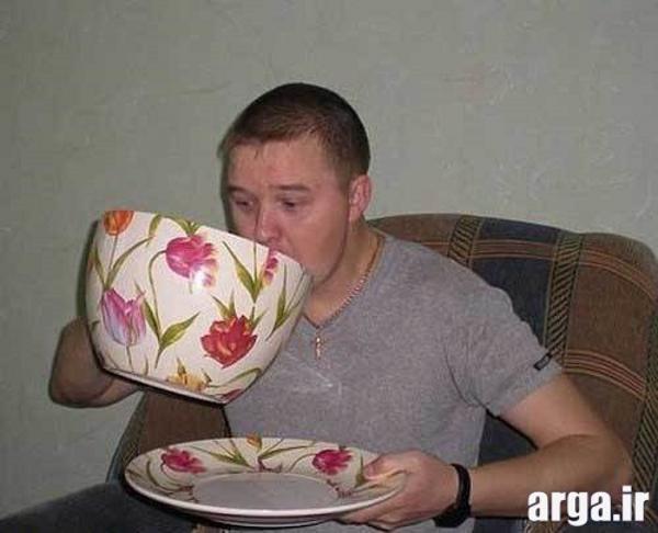 فنجان بزرگ در عکس خنده دار
