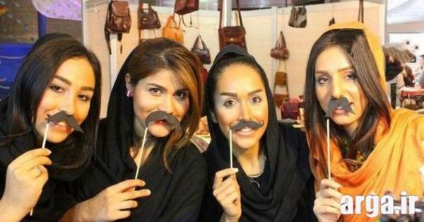 دختران سیبیلو در عکس خنده دار