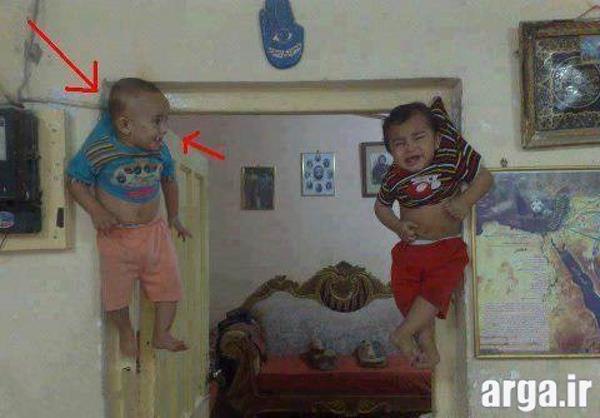 بچه های شیطون در عکس خنده دار