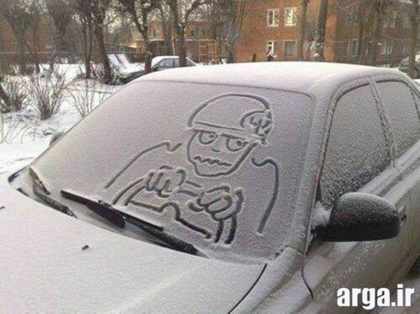 نقاشی جالب در عکس خنده دار