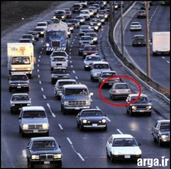 عکسهای خنده دار ترافیک