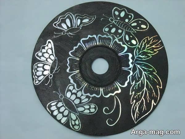 خلاقیت با سی دی به شکل منحصر به فرد