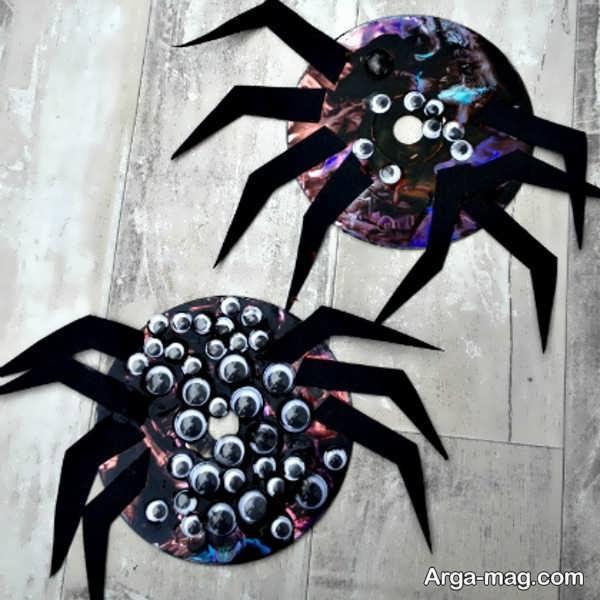خلاقیت با سی دی به شکل عنکبوت