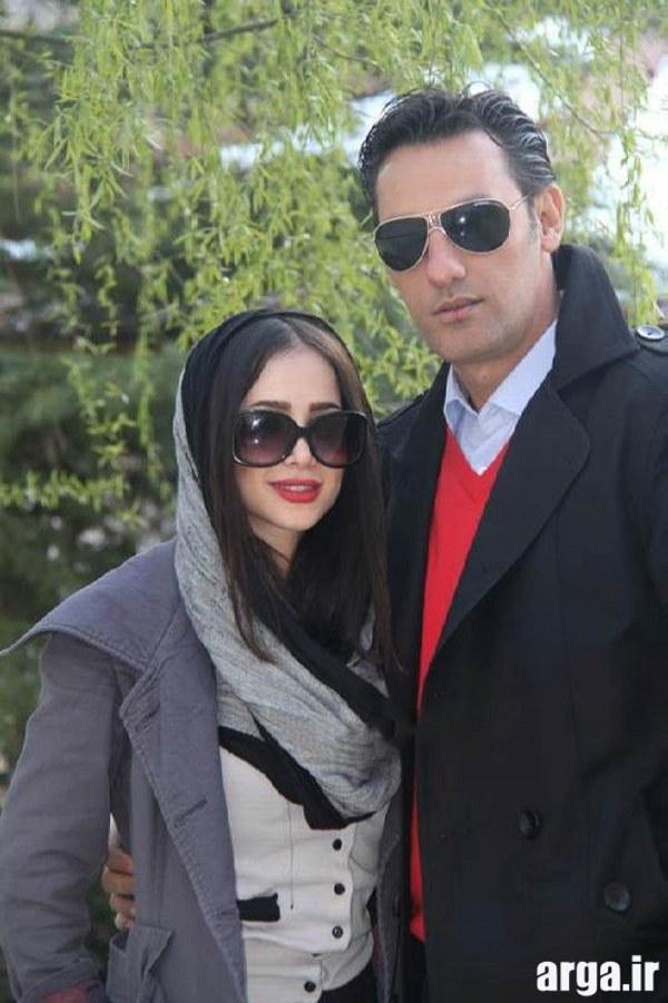 الناز حبیبی در کنار همسرش