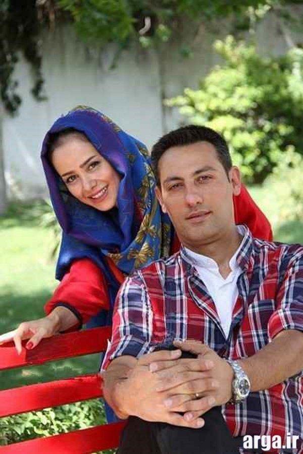ژست جالب الناز حبیبی و همسرش