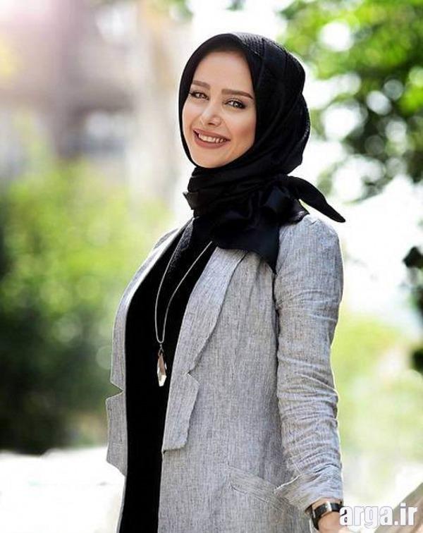 الناز حبیبی با یک تیپ زیبا