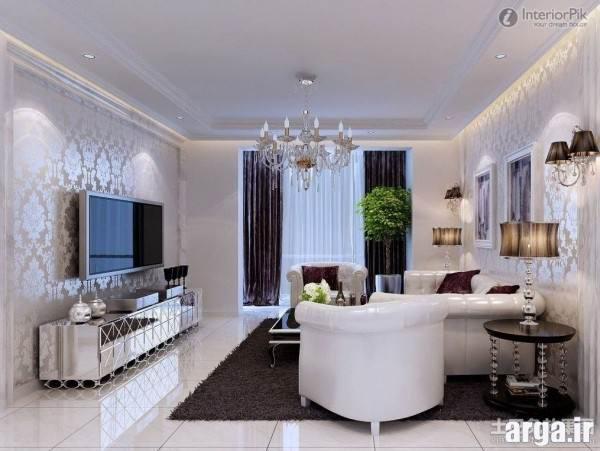 اتاق پذیرایی سفید