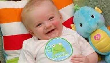 مراقبت های نوزاد 5 ماهه