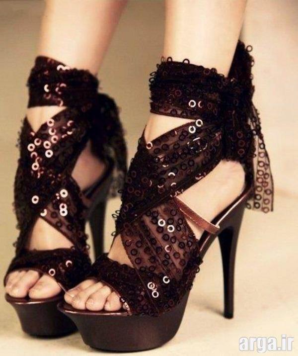 کفش پاشنه بلند دخترانه شیک