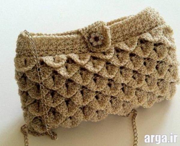 کیف بافتنی زیبا