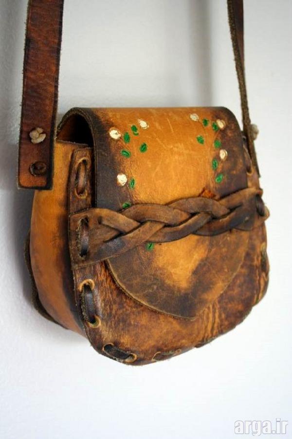 کیف چرم مدرن دست دوز