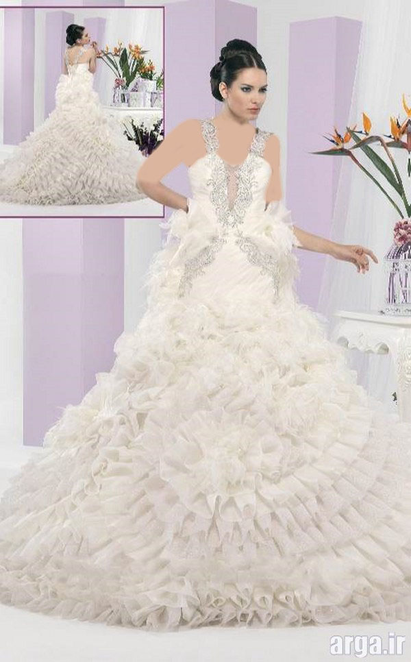 مدل مدرن لباس عروس پاییز 94