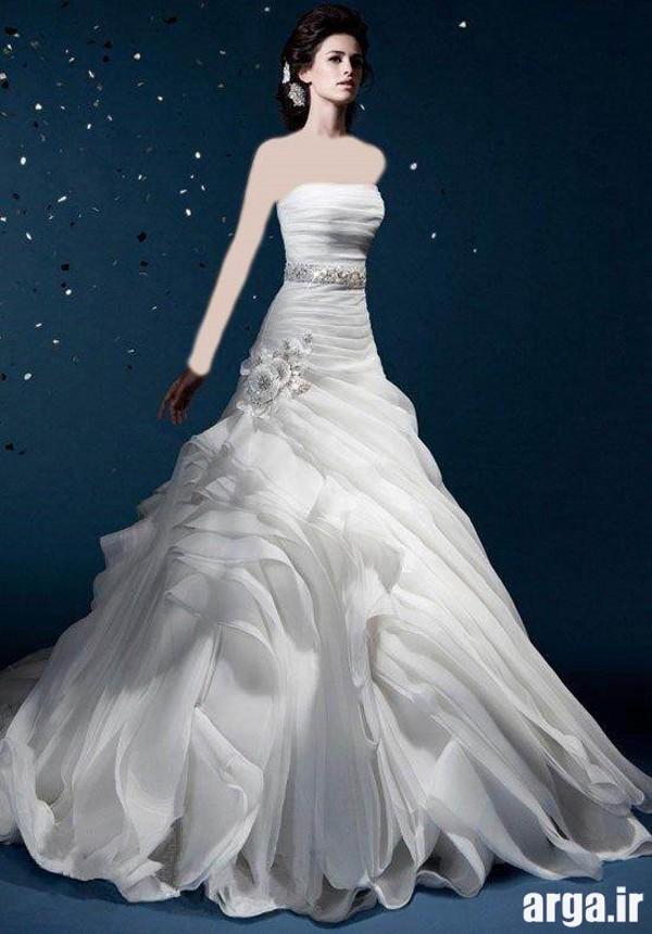 مدل لباس عروس پرنسسی زیبا