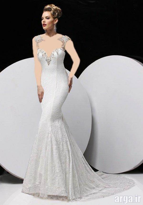 لباس عروس پرنسسی جذاب