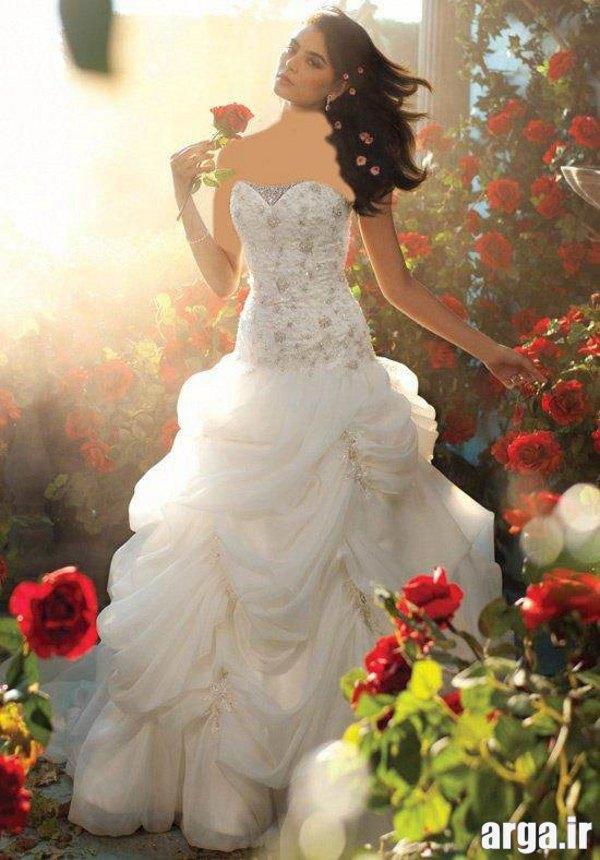 لباس عروس شیک پرنسسی