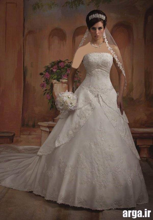لباس عروس مدرن پرنسسی