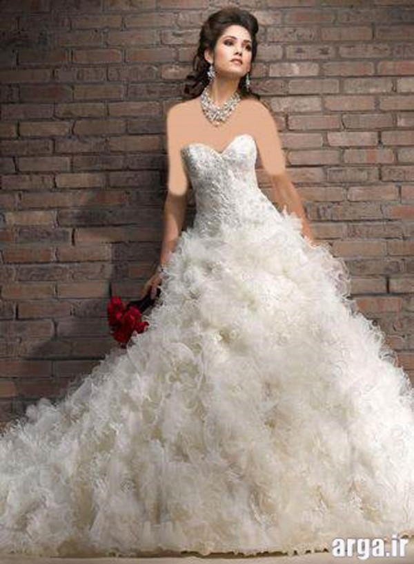 لباس عروس جذاب پرنسسی