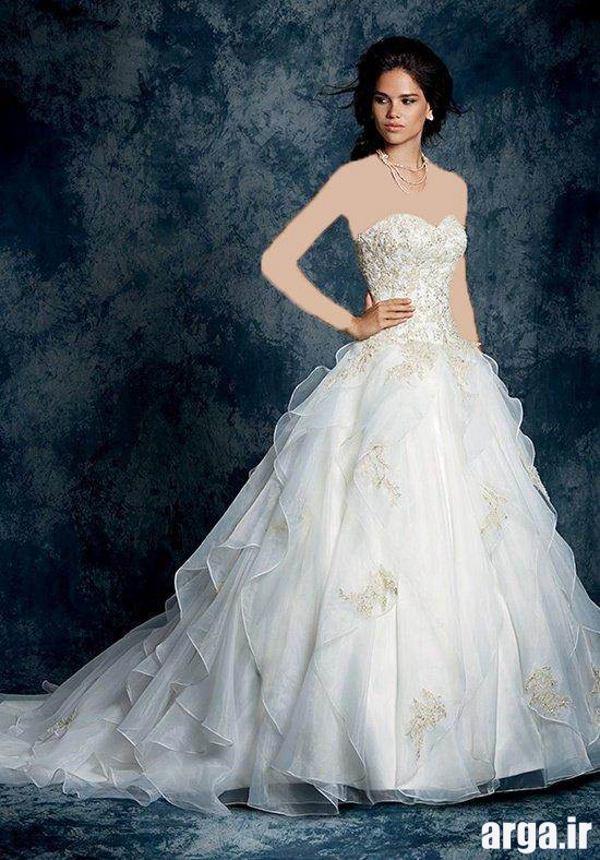 مدل لباس عروس پرنسسی مدرن