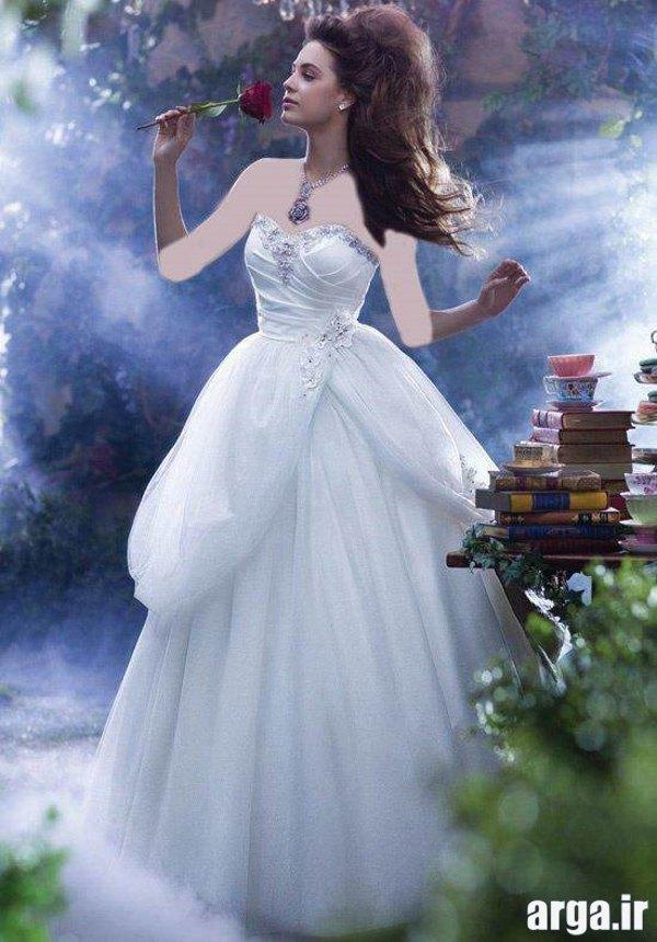 لباس عروس پرنسسی زیبا