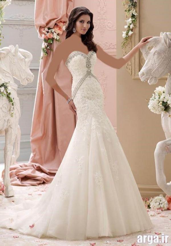 لباس عروس پرنسسی مدرن