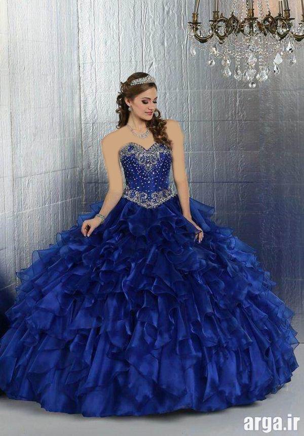 مدل های جدید رنگی لباس عروس