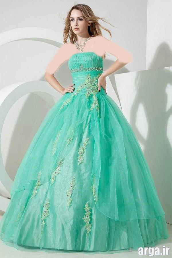 مدل های شیک رنگی لباس عروس