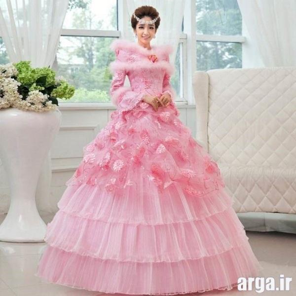 مدل های جذاب رنگی لباس عروس