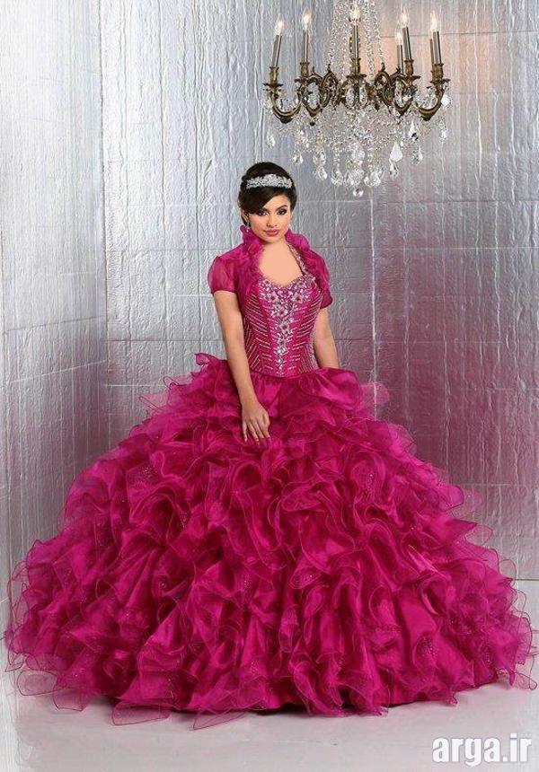 لباس عروس رنگی شیک