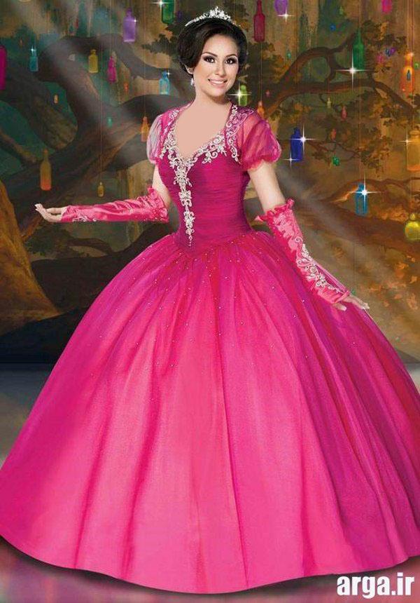 لباس عروس رنگی جذاب