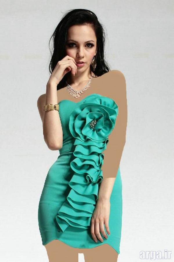 لباس مجلسی کوتاه دخترانه زیبا