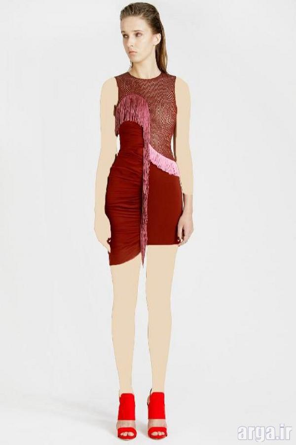 لباس مجلسی کوتاه دخترانه مدرن