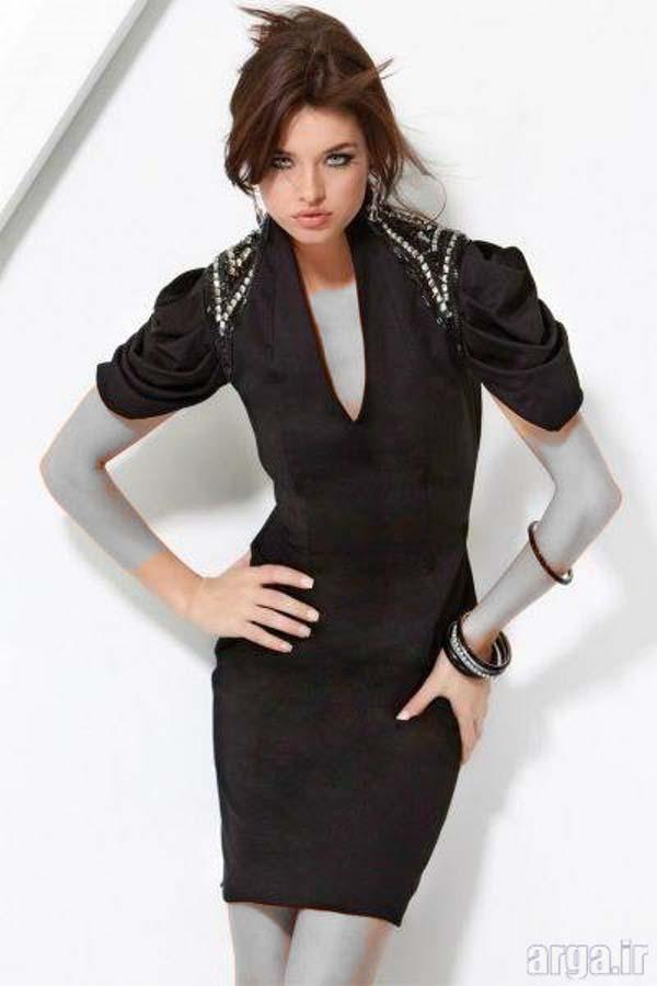 لباس مجلسی مشکی مدرن