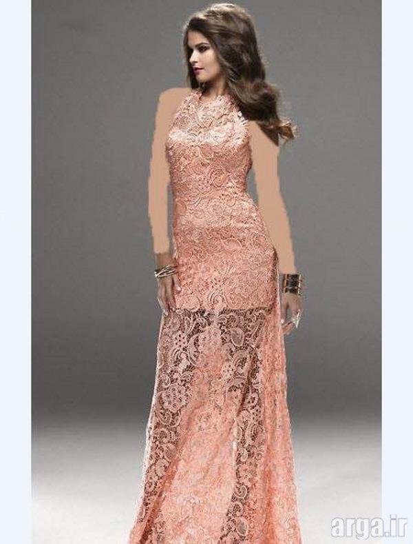 مدل لباس شب جذاب گیپور