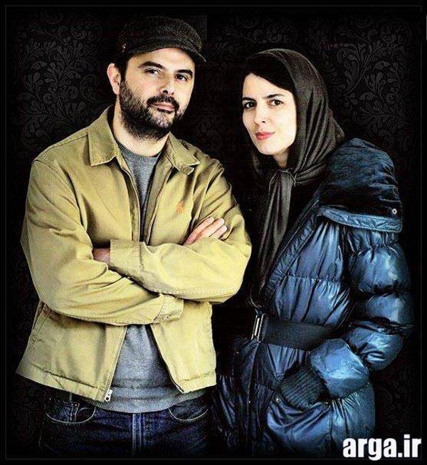 تصویری زیبا از لیلا حاتمی و همسرش