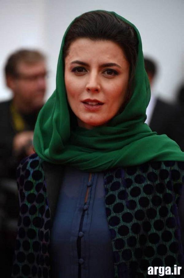 لیلا حاتمی با شال سبز