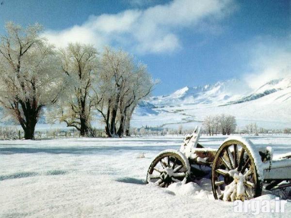 تصویری زیبا از منظره برفی
