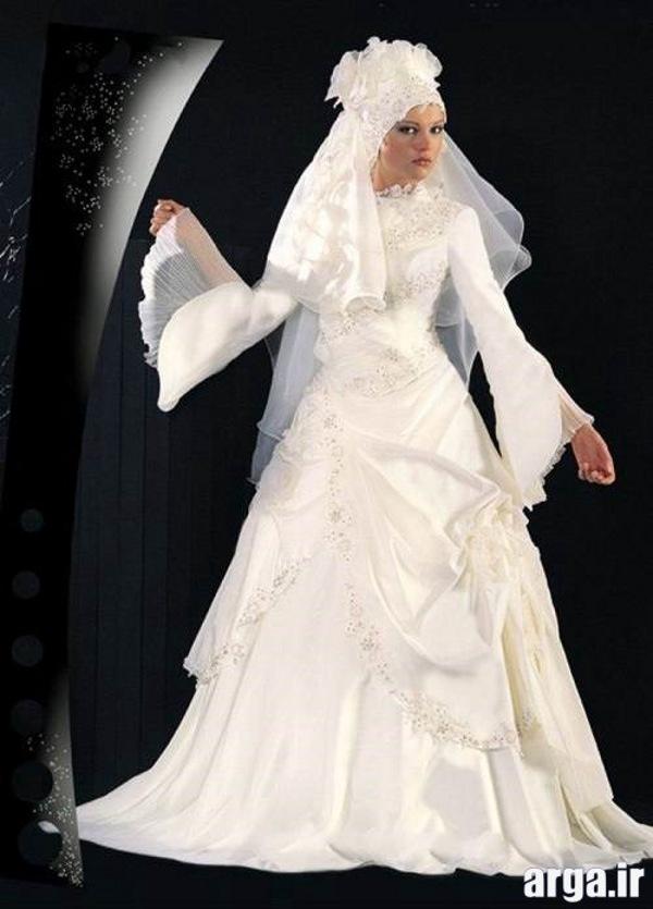 لباس عروس جدید پوشیده