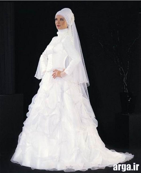 لباس عروس شیک پوشیده