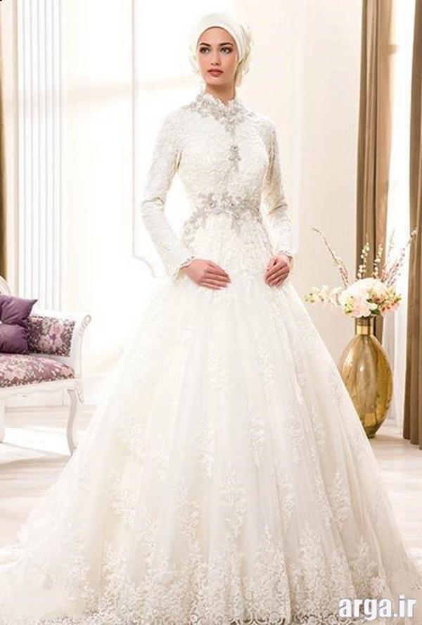 لباس عروس مدرن پوشیده