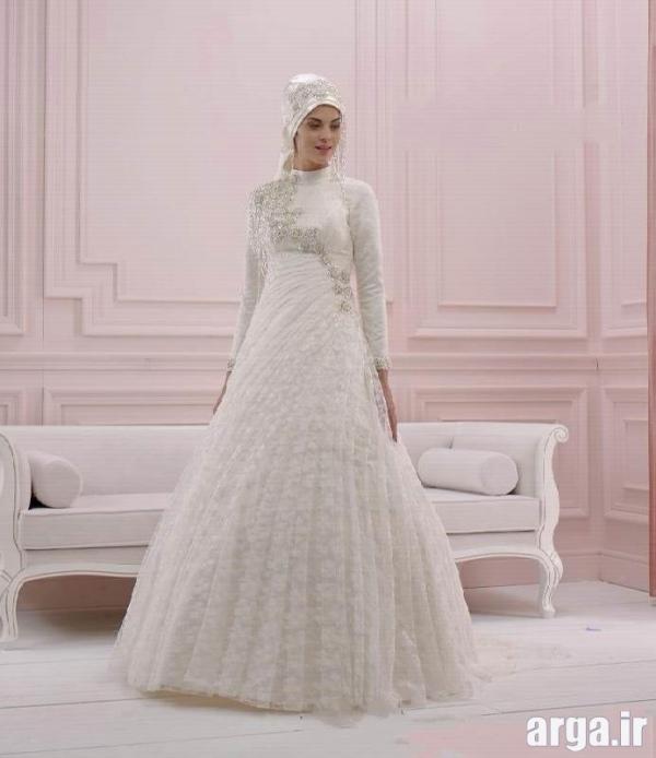 لباس عروس جذاب پوشیده