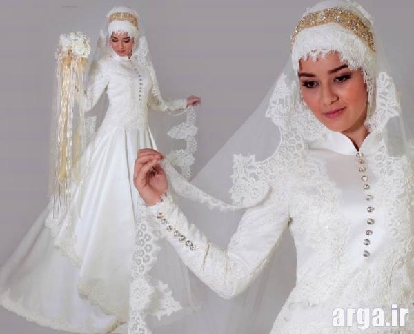 مدل لباس عروس جدید پوشیده