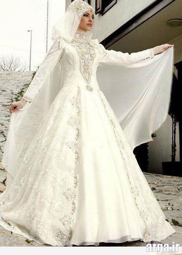 مدل لباس عروس شیک پوشیده
