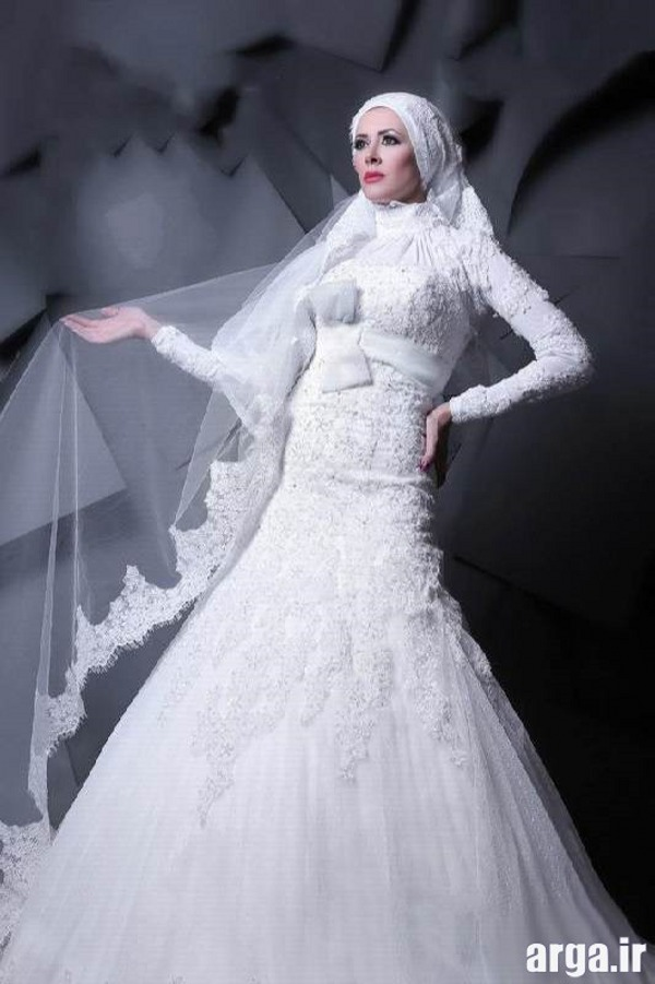 مدل لباس عروس مدرن پوشیده