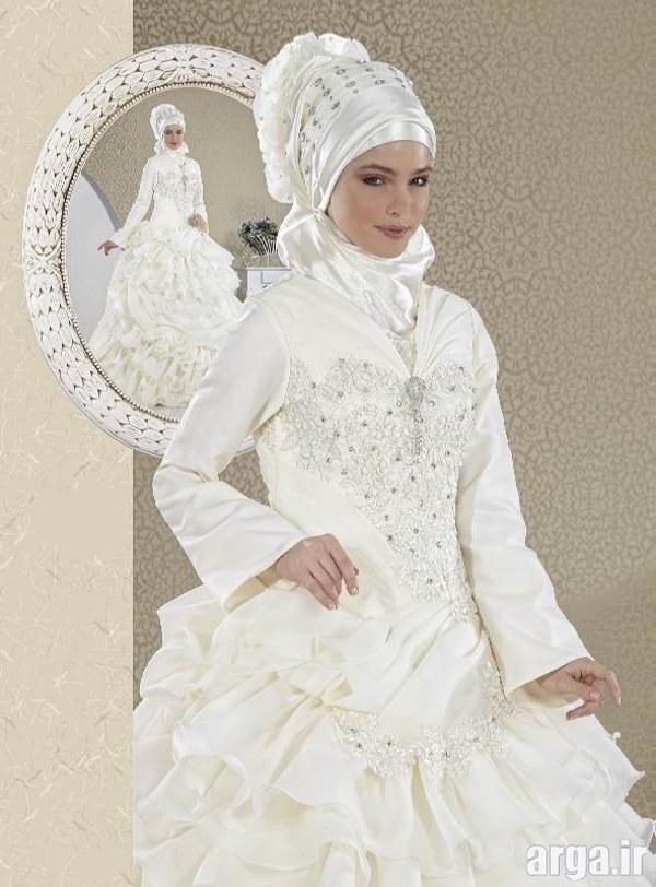 مدل لباس عروس جذاب پوشیده