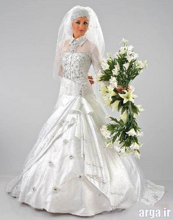 لباس عروس پوشیده مدرن